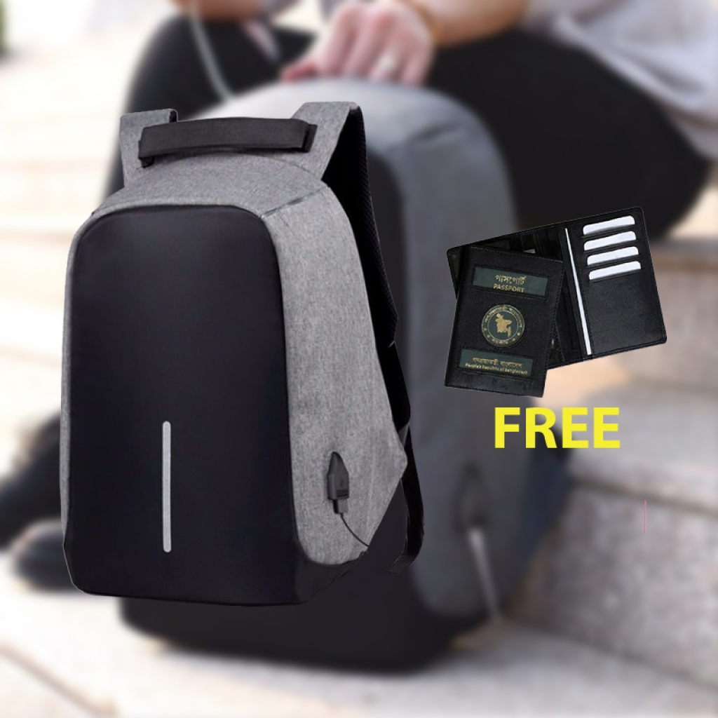 Passport Cover Free With Anti-Theaft Backpack(aash)-0024