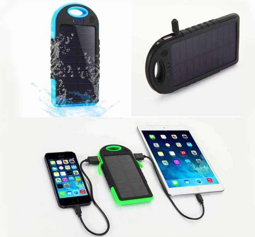 Solar system waterproof power Bank with torch Light - 3504